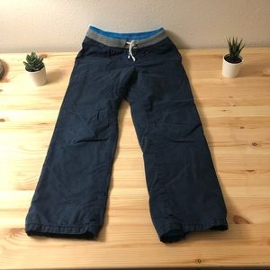 Twill pants with stretch waistband